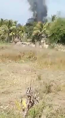 Myanmar security forces have launched another campaign of terror in Rakhine state against Rohingya Muslims and Arkanese minority.  On January 16, it torched this village in the Buthidaung district.  via Rohingya Vision