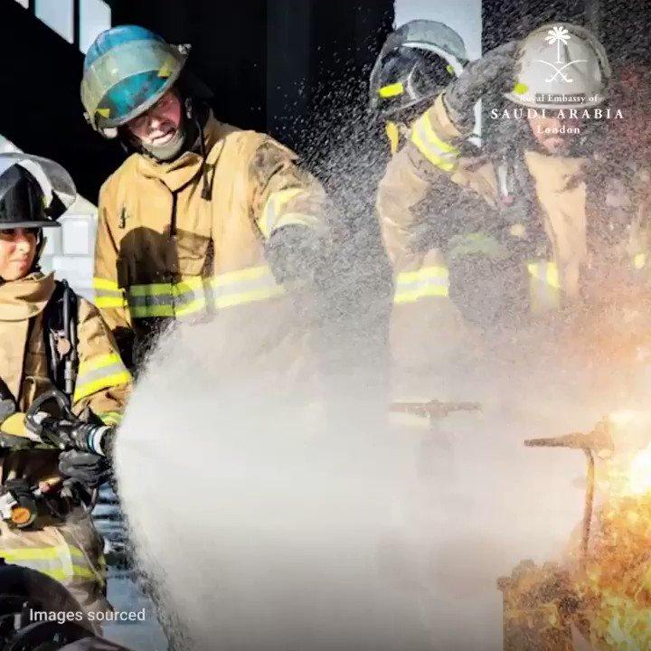 Meet #SaudiArabia's first certified female firefighters: #engineers Abeer Al-Jaber & Ghaziyah Al-Dossary @saudi_aramco