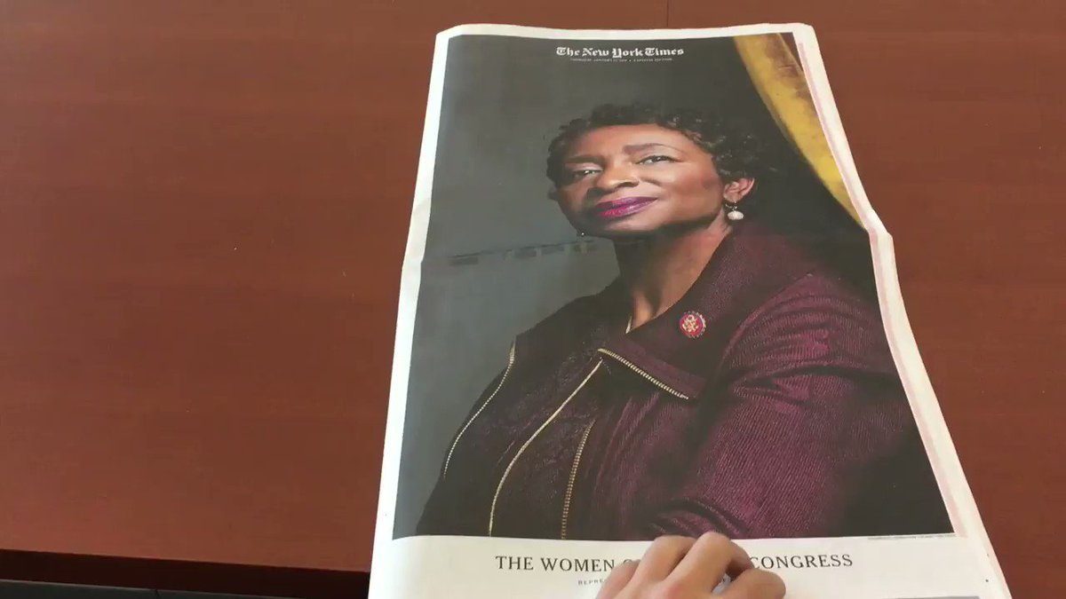 In today's @nytimes, beautiful portraits of every woman in the 116th congress 😍😍😍