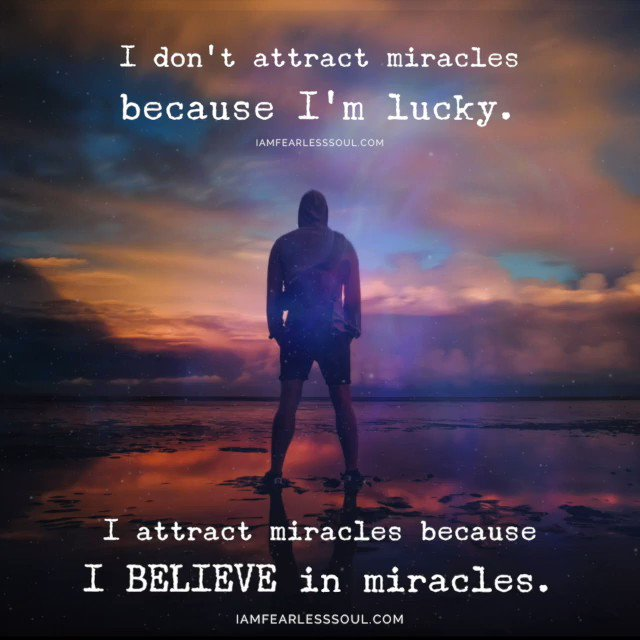 "Type ""YES"" if you believe in MIRACLES! WE DO!"