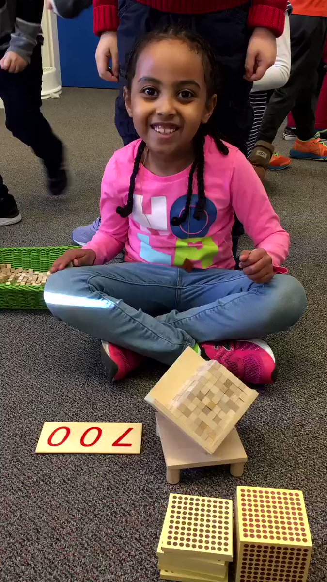 We spent the past two days building a 1000 cube one unit cube at a time. Cooperation, coordination, patience, and perseverance got the job done! We love exploring big numbers and stretching our math brains @brimmerandmay!