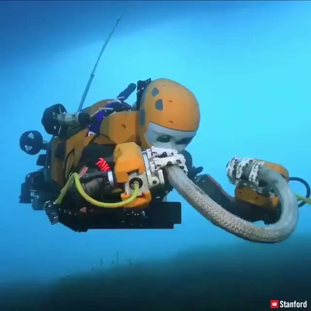 Researchers at @Stanford developed a diver robot to monitor reefs and explore shipwrecks! 🌊🤖  #AI #Robotics #Automation #IoT #ArtificialIntelligence #MachineLearning #ML #BigData #tech #DeepLearning #NeuralNetworks #diving #scuba #scubadiving #robots #blockchain #technology