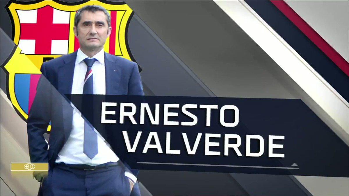 El presidente del @FCBarcelona ⚽ anunció que Ernesto Valverde seguirá una campaña más en el banquillo azulgrana.