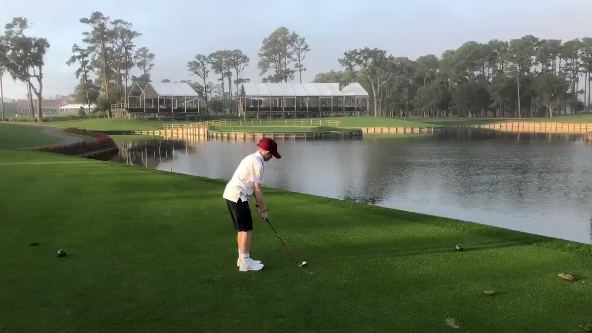 Now that's some #FridayFeeling at @TPCSawgrass! The competition at THE PLAYERS Championship might need to watch out for this young man!