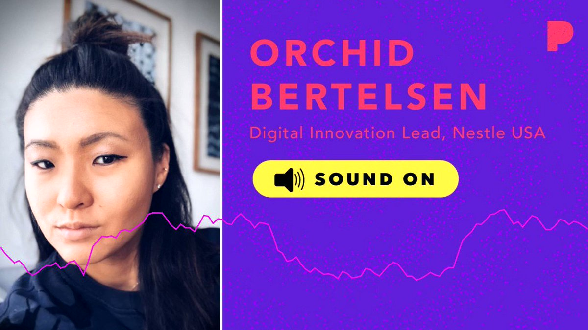 """What does the future sound like? To the Digital Innovation Lead at @NestleUSA @OrchidBertelsen, it sounds like """"commands."""" #PandoraCES #CES2019 #SoundOn"""