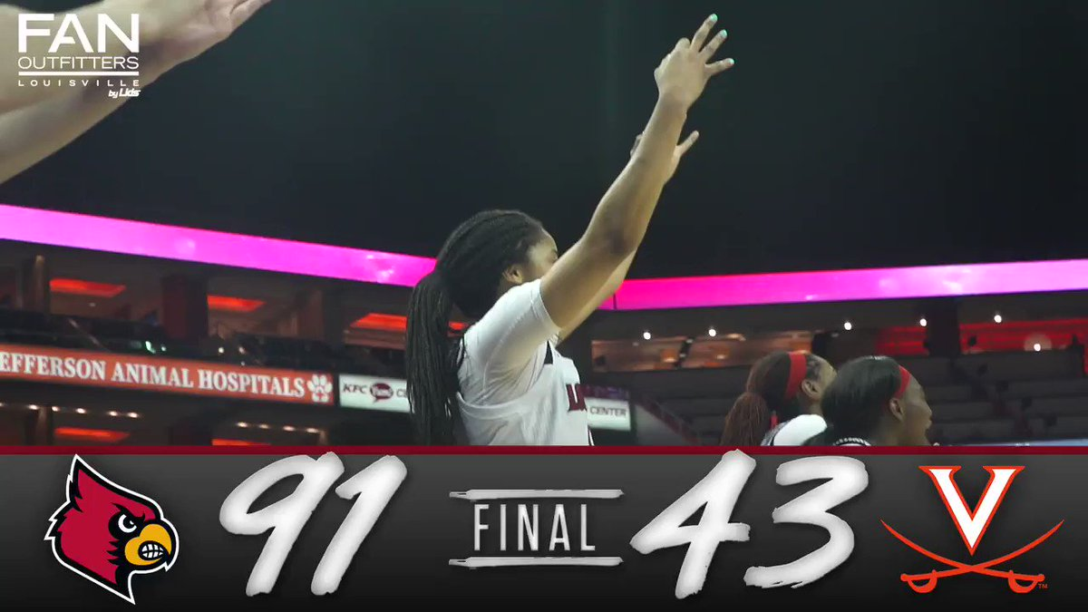 Louisville defeats UVA 91-43, the program's biggest margin of victory in an ACC game! #GoCards https://t.co/jRdq5W3yoa