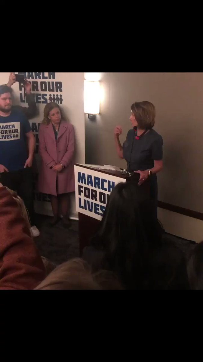 """""""Thank you for taking this to a new level of leadership in our country."""" - @SpeakerPelosi"""