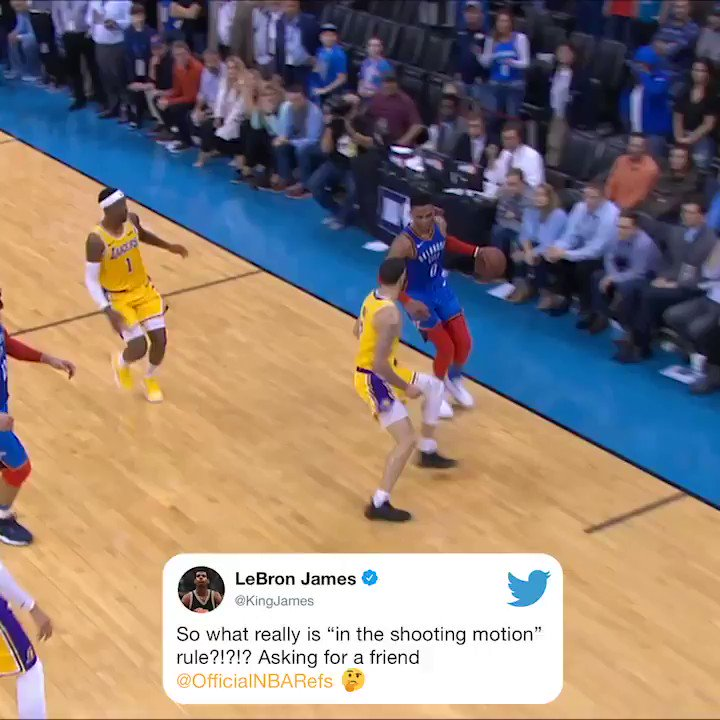 LeBron really wants to know about Westbrook's last shot before OT 👀