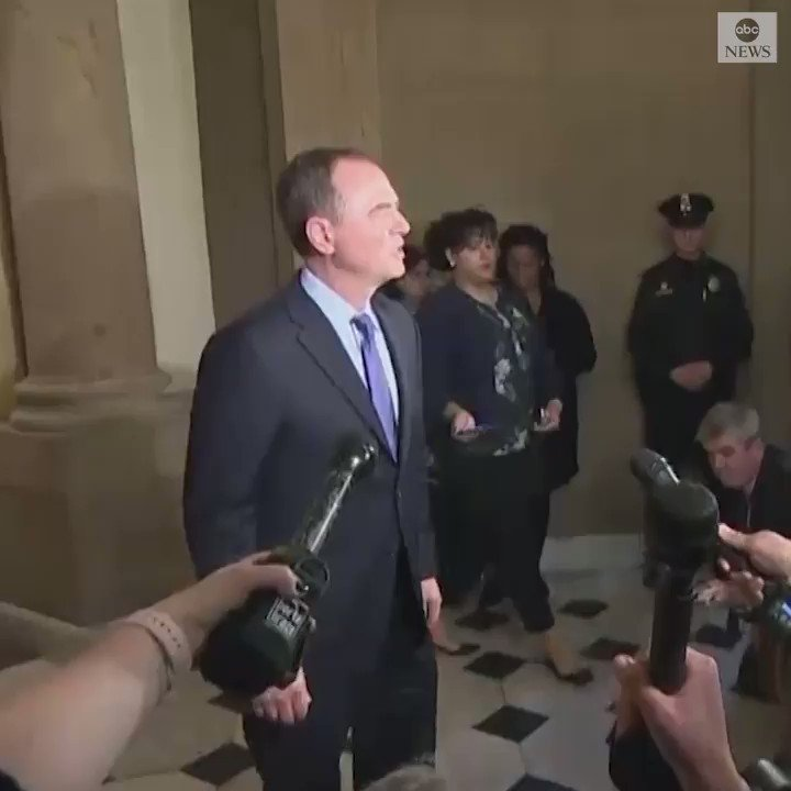 """House Intelligence Committee Chairman Rep. Adam Schiff, who had planned to join Nancy Pelosi's congressional delegation to Afghanistan, says Pres. Trump's decision to derail the trip is """"completely inappropriate."""" https://abcn.ws/2DhTOhK"""