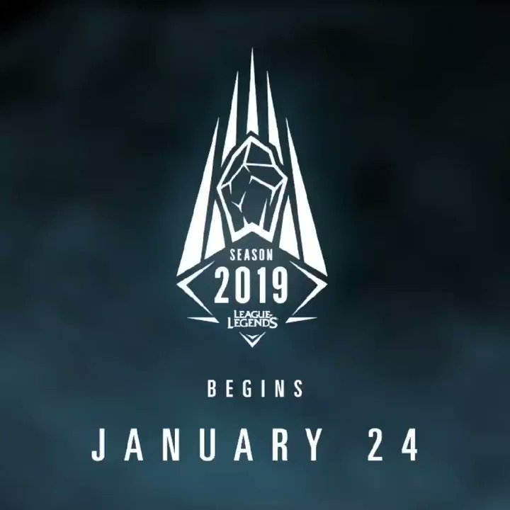 Get ready!  The 2019 Ranked Season starts soon!    More details here! https://na.leagueoflegends.com/en/news/game-updates/competitive/whats-new-ranked-2019…