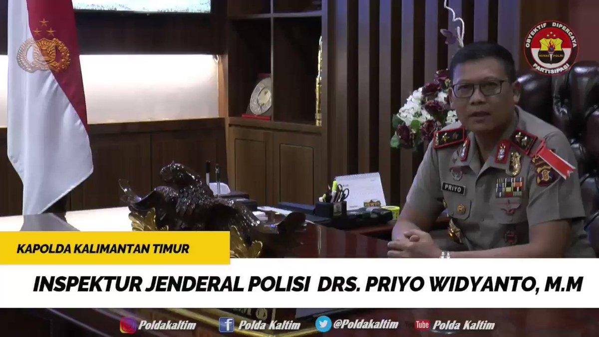 Kapolda Kalimantan Timur Irjen Pol. Drs. Priyo Widyanto, M.M. beserta staf dan Bhayangkari mengucapkan Selamat Hari Ulang Tahun TVRI Kaltim Ke-26 Tahun. @TVRINasional @TVRI_Kaltim_