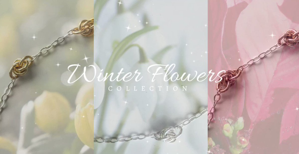 Winter flowers jewellery collection inspired by the flowers that bring us all joy in these cold months 💙🌸#jewelrycollection #elegant #handmadejewelry #winter #new