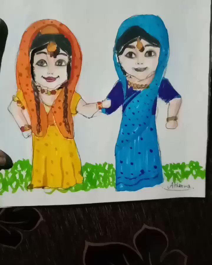 Made this card yesterday 💕....How is it?..Comment below....💫 Gopadevi  Baldevi  AND Krishna Balram (Krishna)@Beatking_Sumedh  And (Dau Balram) @basantb0208 are doing a brilliant job in portraying the perfect role and  bond....And again they amazed us once again #RadhaKrishn