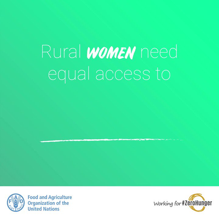 When rural #women have access to equal resources everyone benefits.   #ZeroHunger https://t.co/1rIU4RwxHO