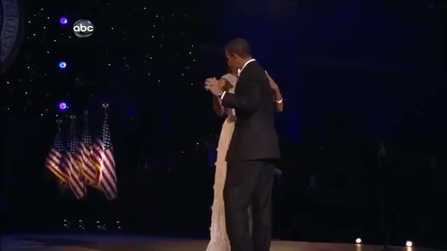 My favorite inauguration memory 💙 Beyoncé singing 'At Last' as the Obamas take their first dance as the President and First Lady