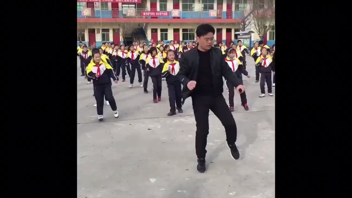 This school in China so lit I had to add the proper music for the situation...