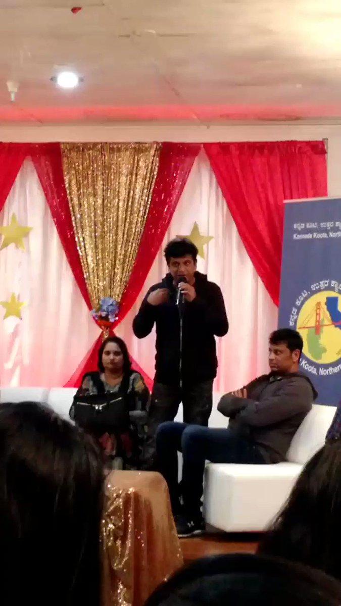 #Shivarajkumar sharing some wisdom from #Annavaru #Sandalwood #Kannada #Sunnyvale