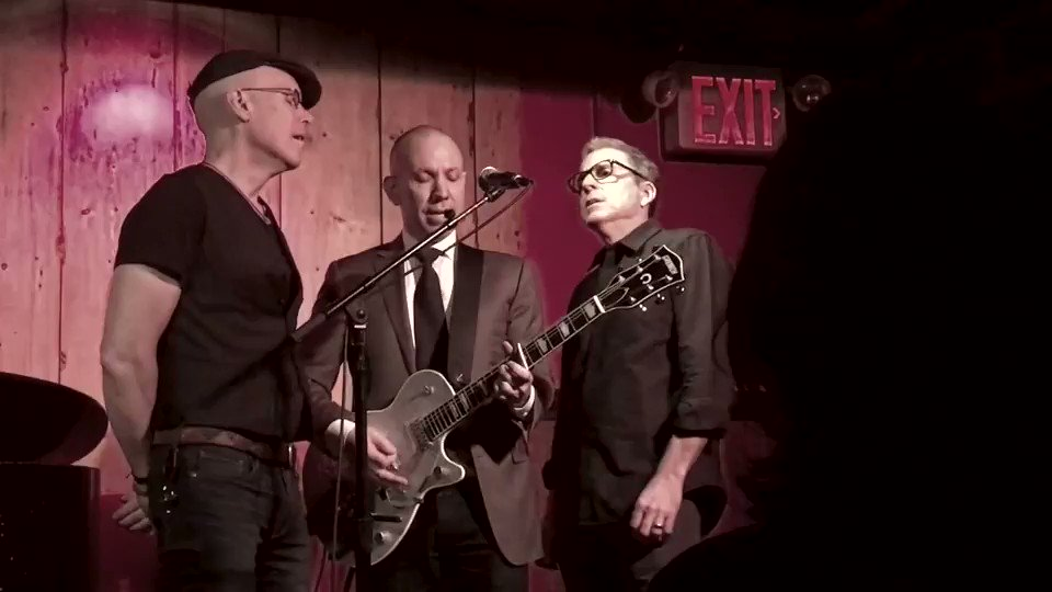 "A sold-out @RockwoodNYC & my band onstage with me to sing a classic: The Beatles' ""This Boy."" Thanks to all who came––indeed, this boy would be happy just to love you, and he does. Next show is March 21st, with special guest @DuncanSheik (Info: https://ticketf.ly/2RPYEL5 )"