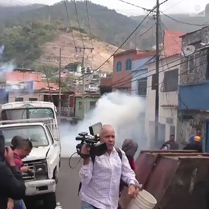 Protests broke out in Caracas on Monday after almost 30 people from Venezuela's National Guard were arrested following an uprising against President Nicolas Maduro. Large demonstrations are expected Wednesday. https://abcn.ws/2DsGAPd