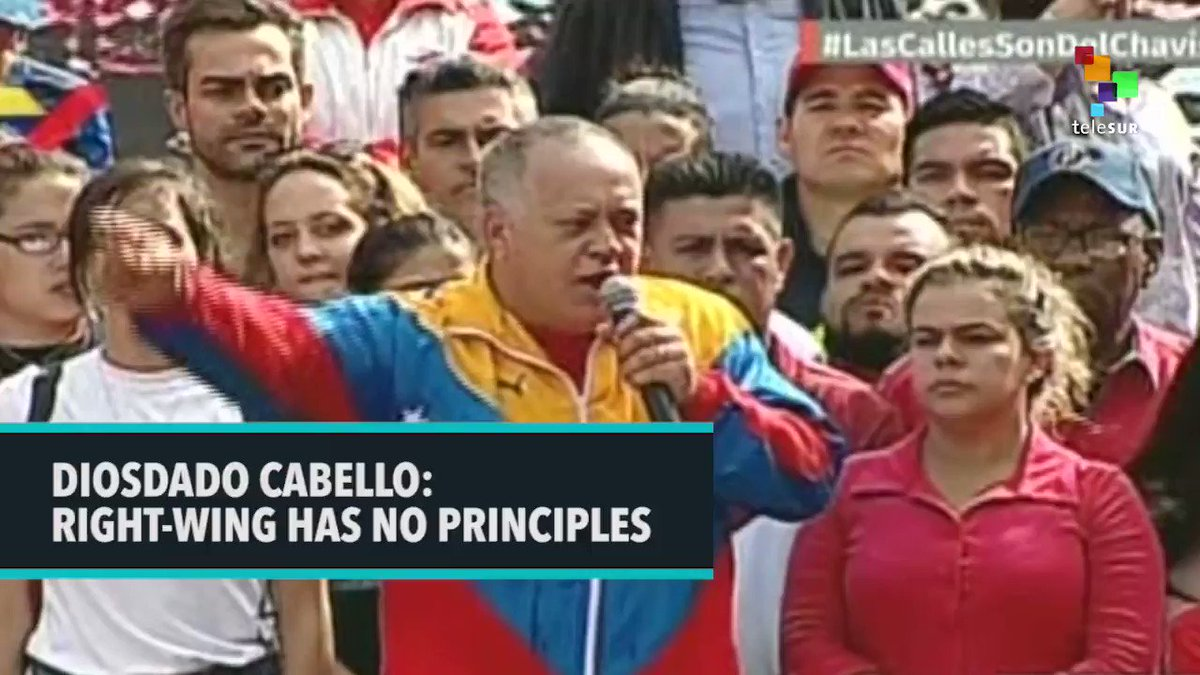 """The right-wing has no shame when they violate the Venezuelan Constitution that was approved by our people."" @dcabellor"