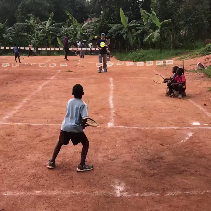 However old you are, whatever the circumstances, wherever you are in the world, tennis is a sport for everyone...  Just ask these 5-year-old Ugandan primary school students 😊  🎥 @10martinrocca