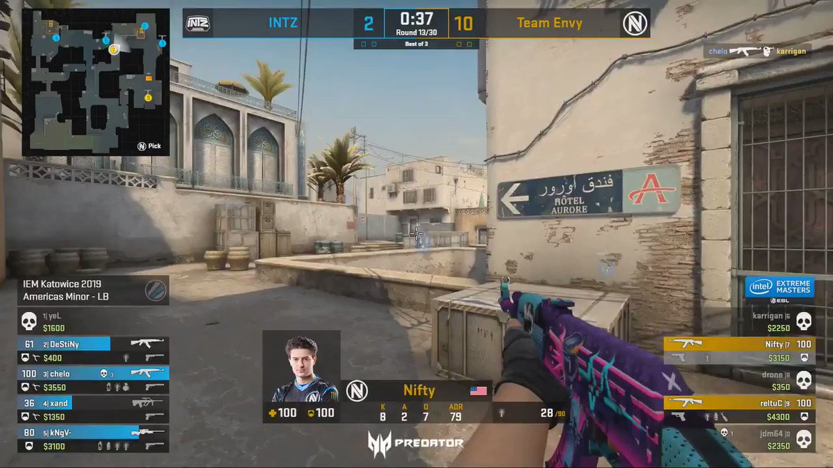 The one taps from @Envy_Nifty as he snags a 4k in a 2v4 situation.