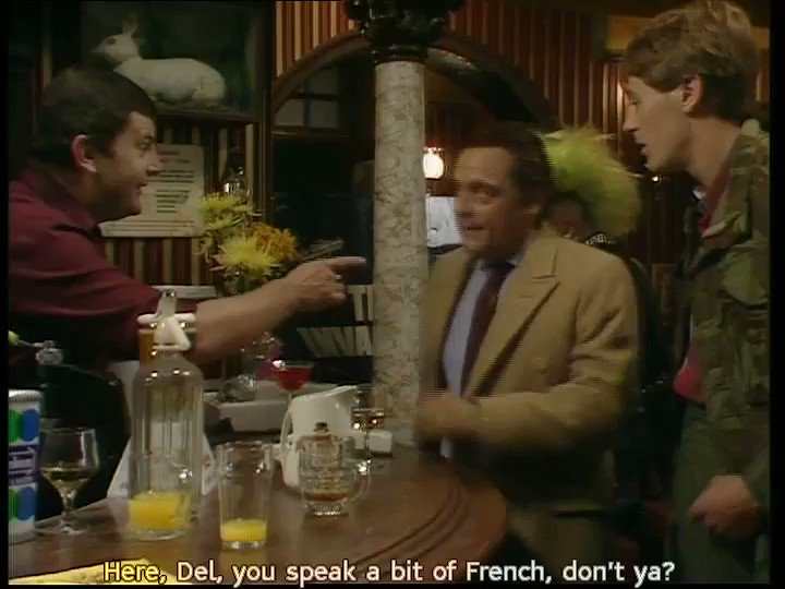 Uncle Albert trying to talk German is one of the funniest scenes in Only Fools!