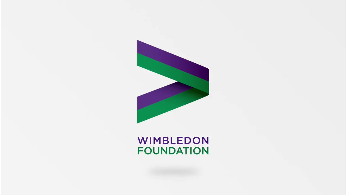 It's a big day for the Wimbledon Foundation. We have a new logo…