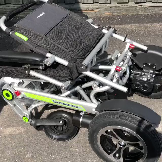 H3S enjoys automatic folding system to make storage easier and more convenient.  #robot #freeday #comfortable #wheelchair #powerchair #mobility #freedom #design #chair #foldable #wheels #robotics #mobile #scooter #power #healthy #electric #holiday #travel #foldable