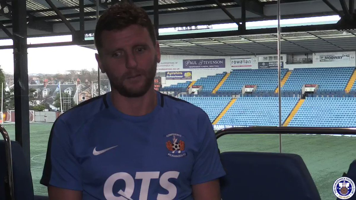 """As soon as I left the game I thought, I wouldn't mind joining that group.""  Watch @AlexBruce84's first interview in full on Killie TV   http://bit.ly/2WuNdrF  #Killie150"