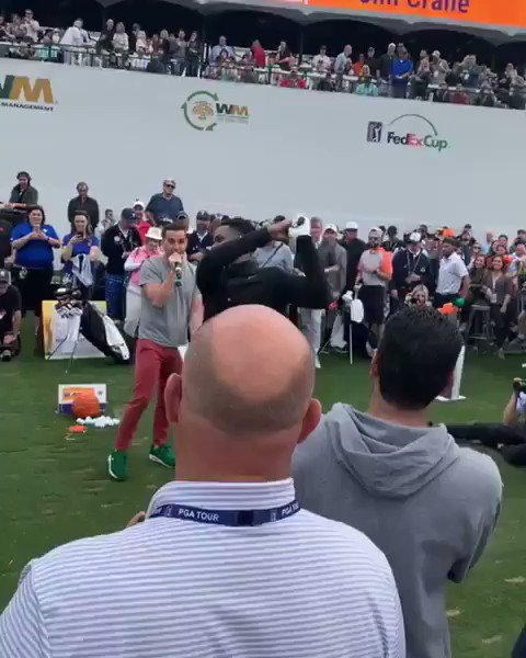 "Unbelievable experience .. Had so much fun at the @WMPhoenixOpen  .. my boy called me the ""Discount Ray Allen"" 🤣🤣..  .. I was 15 feet out.. 👀🙌🏾 #ShotAtGlory #PHX #Blessed #VA 🏌🏽‍♂️"
