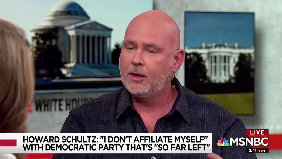 Steve Schmidt says the people who are complaining about Schultz are the same people who told us that Trump couldn't win.  He was also one of those people.