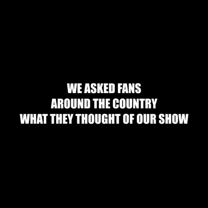 We asked fans around the country what they thought of our show...here's what they said🌹