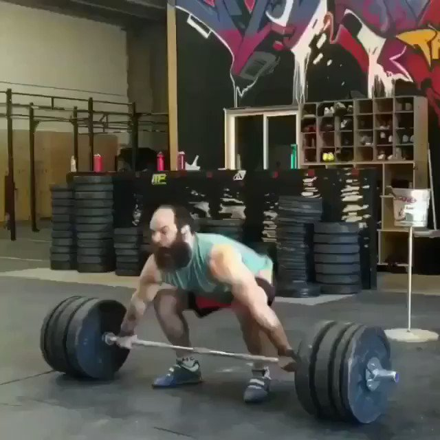 SUPERHUMAN Strength from @jaredenderton 315 Hip Snatch + 385 Hip Clean 😱😱   #StrengthTraining #strengthandconditioning #Crossfit #powerlifting