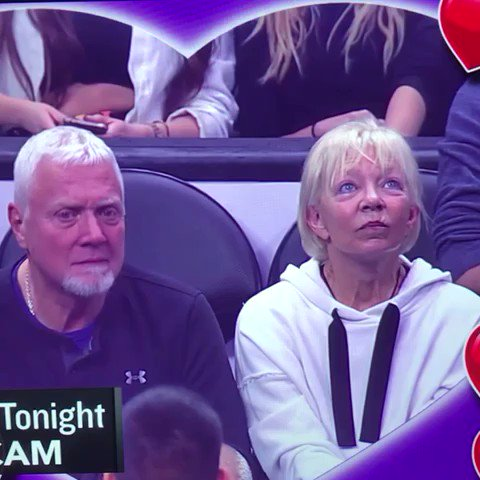 Kiss Cam at Staples Center may or may not be out of control