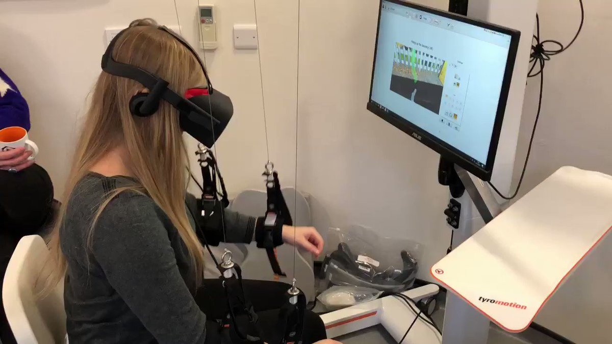 If you would like to see how Robotics and VR can enhance upper limb rehab, check out #MINT19 9th March Bristol https://www.eventbrite.co.uk/e/masterclass-in-neuro-technology-mint-tickets-54284943728 …