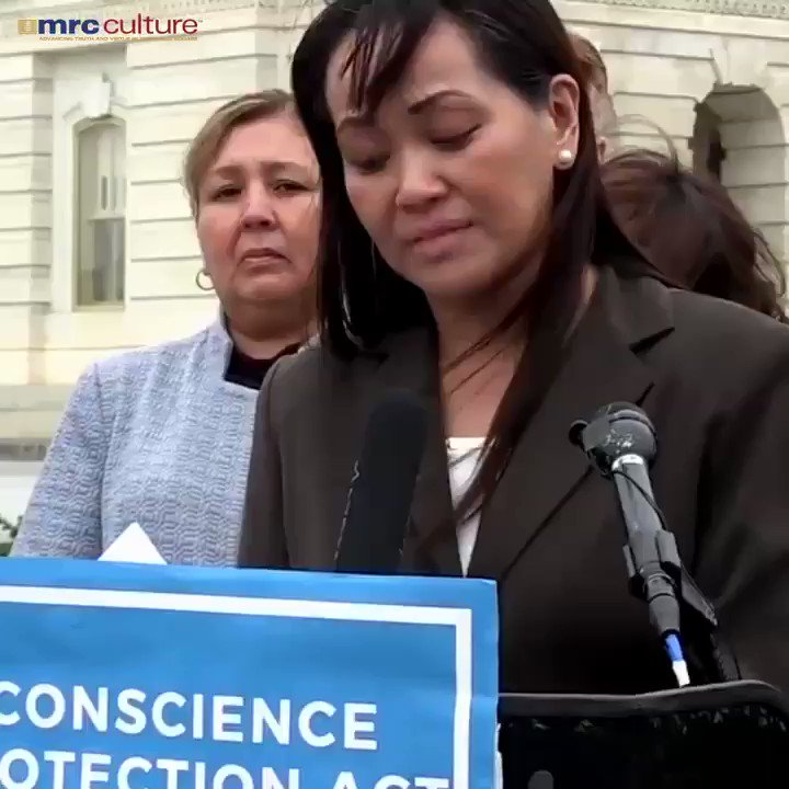 Drs & nurses should NOT be forced to commit/participate in abortions. This nurse was forced to, violating her religious freedom. In 2018 Trump's admin created a new Conscience&Religious Freedom Div in  Dept of Health & Human Services. Still need to pass Conscience Protection Act