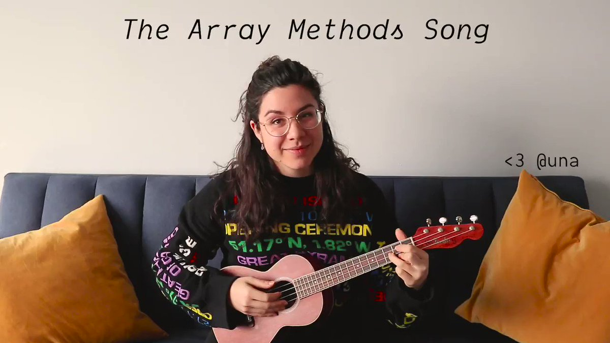 This weekend I:  ✅ Recorded a song about array methods ✅ Realized I have no life
