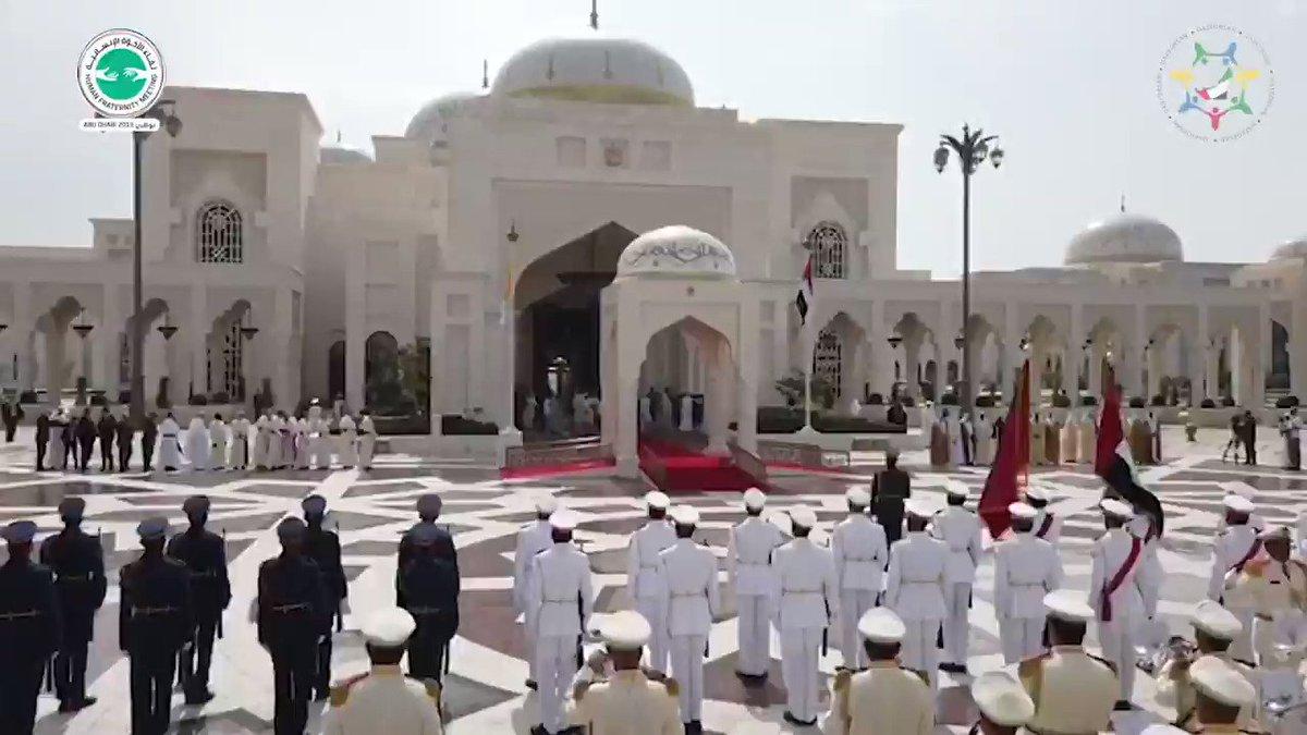 #Exclusive | Pope Francis' Official Reception at Presidential Palace in Abu Dhabi  #PopeFrancisInUAE #البابا_فرنسيس_في_الإمارات
