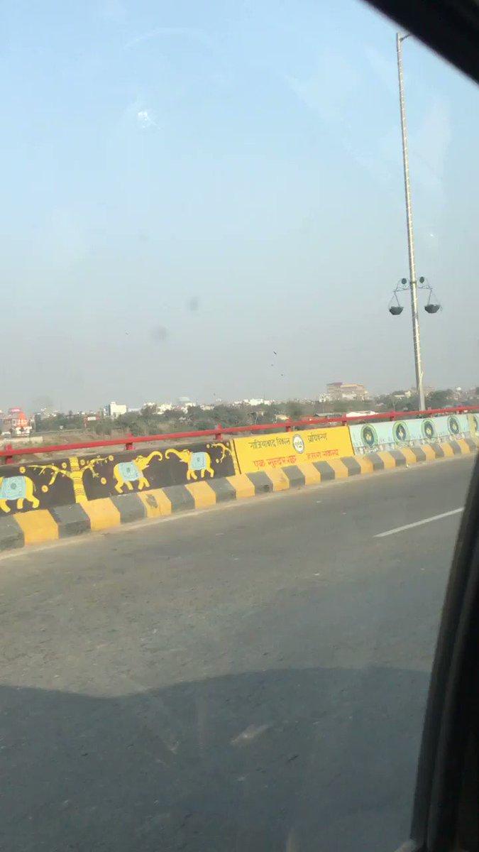 'राजनगर इक्स्टेन्शन एलिवेटेड रोड' पर पहली बार सफ़र किया है. क्या शानदार रोड बनायी है @yadavakhilesh जी 👍