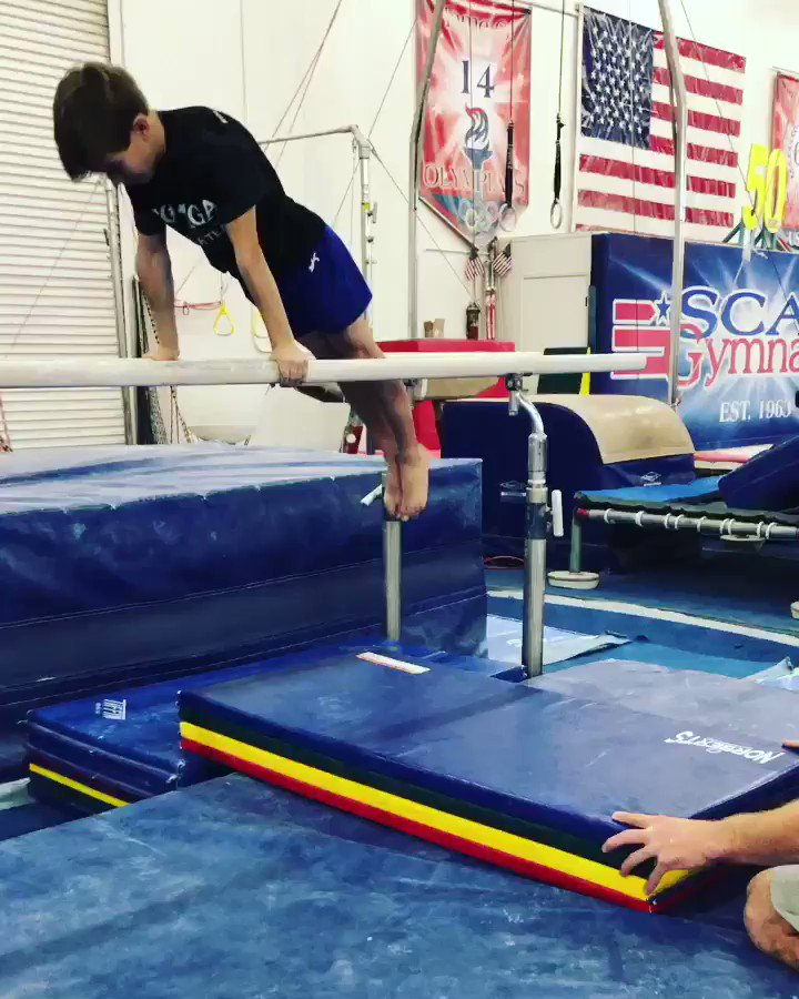 PEACH DRILL: keep the arms straight and don't slide forward 👍🏼 #GymDrill #Gymnastics #SCATS