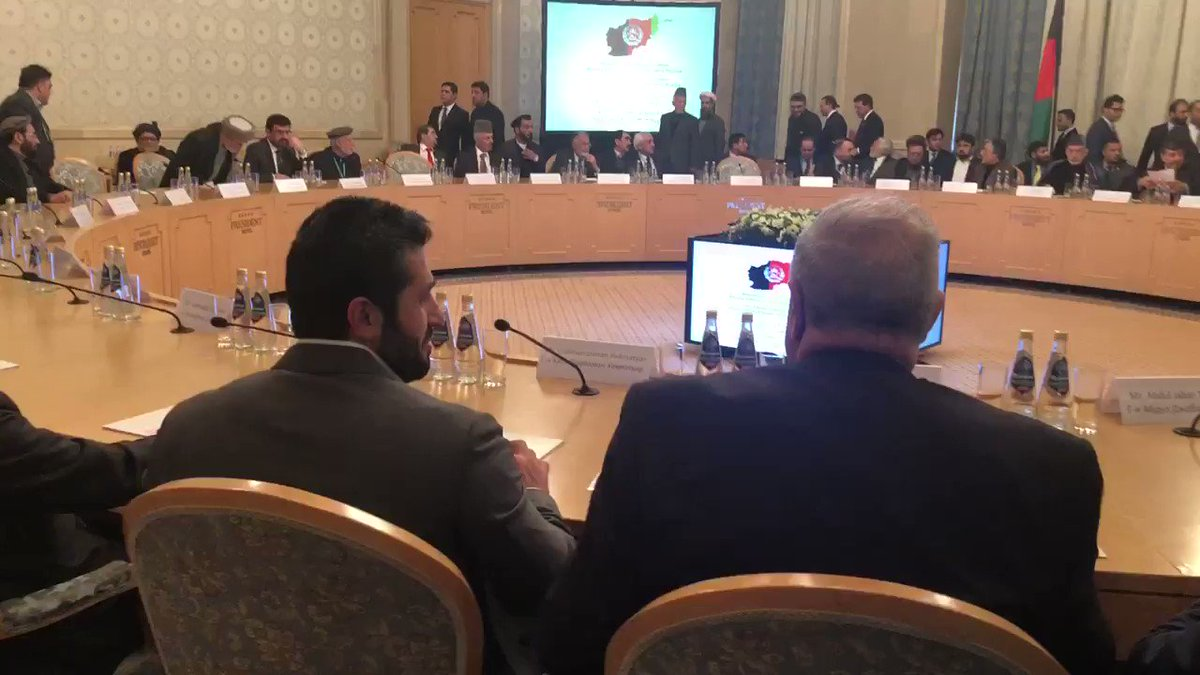 A seat at the (42-chair) table? A mere two women are at the Afghan peace talks in Moscow.