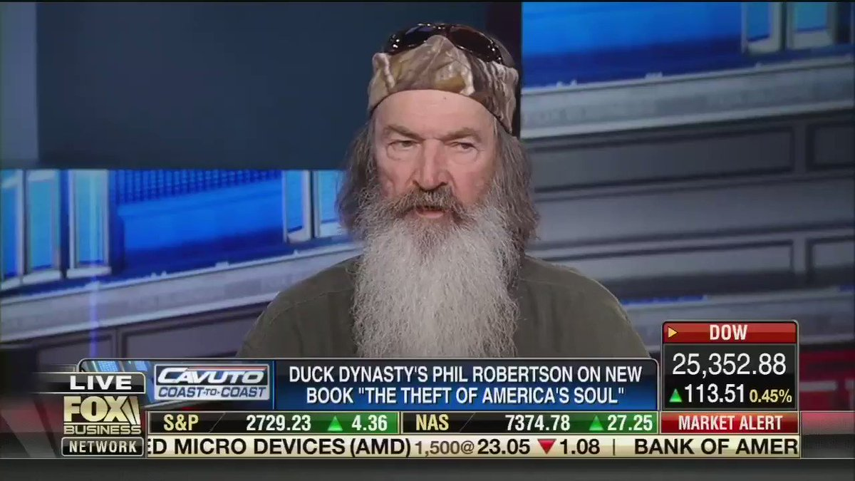 "Duck Dynasty star Phil Robertson went on Fox Business today and said we don't need healthcare because God gives us free healthcare.  ""Doctors can give you a temporary reprieve, but they cannot save you from physical death. The doctors who treat you, they die too."""