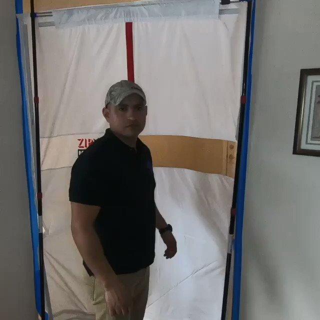 Image for the Tweet beginning: Watch the ZipWall® Magnetic Door