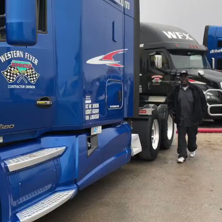 There's one happy contractor! . #driveyourdream #cdldriver #18wheelers #otrdriver #leasetoown #cdlcontractor #drivewfx #trucker #trucklife