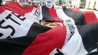 Man Utd fans walking flags through Munich today.   Absolute class 👏🏻   🇾🇪🇾🇪🇾🇪  (🎥 Tony Easom) #munich58 #mufc