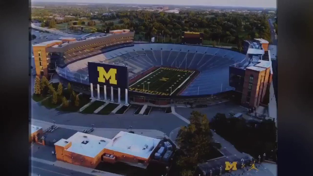 Love the Family Matters theme the #Michigan #Wolverines used to show the new players they added on #NSD @Solomon_STA 〽️