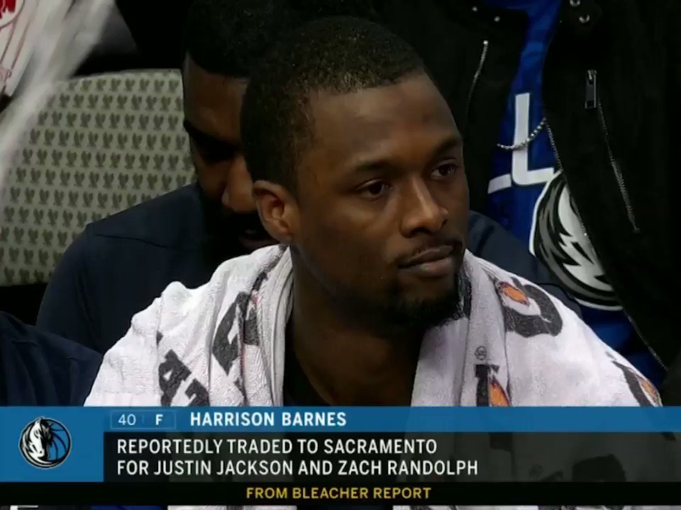 Harrison Barnes was on the court for the Mavericks when reports came down that he was traded. https://t.co/YnqCbW3cuV