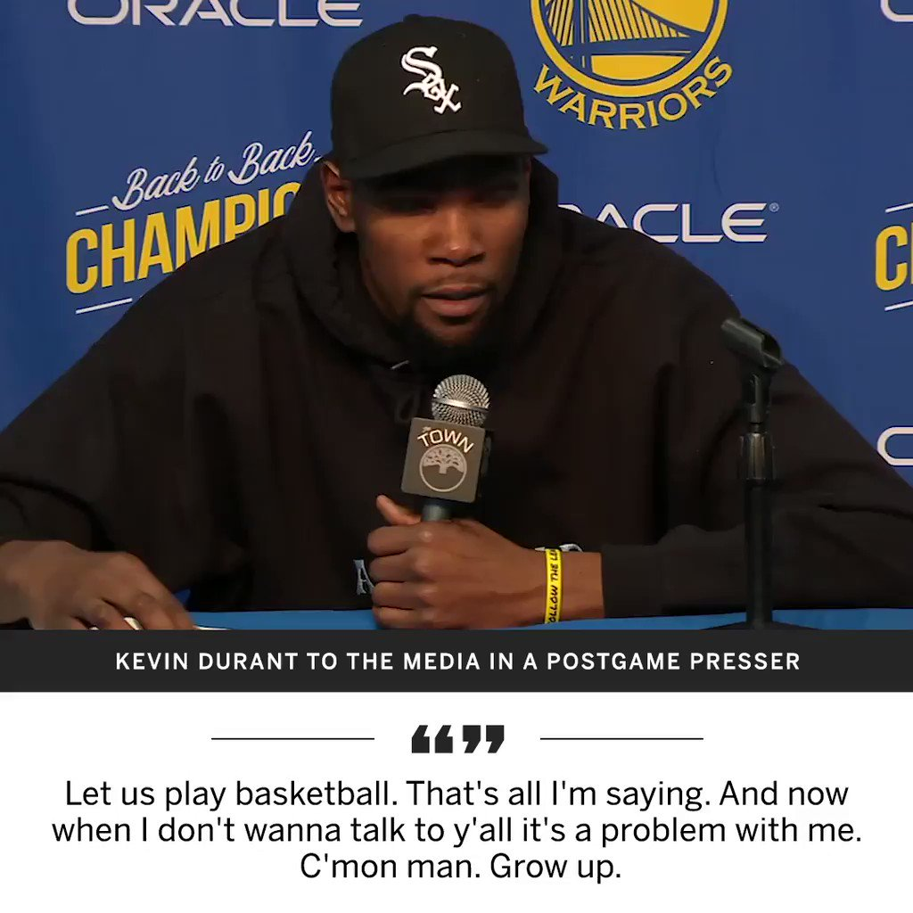 Kevin Durant sounds off postgame and addresses his frustration over free agency rumors. https://t.co/NZHdVrTUQR