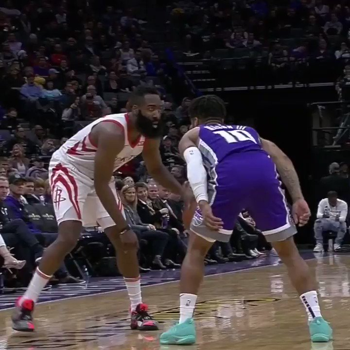 Frank Mason fouled the Beard ... literally. https://t.co/zEO9fjJeBM